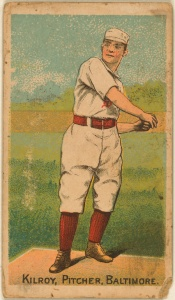 Matt Kilroy: Appeared in a league-leading 68 games in 1886, but finished 29–34 with the Orioles in the cellar.