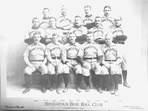 1896 Minneapolis Millers: Perry Werden is top row, second from left.