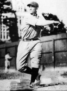 Luke Appling: Hall of Famer Luke Appling when he played for Oglethorpe in 1930, his only year of college baseball.