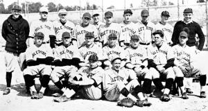 1924 Oglethorpe University baseball team: Coach Frank Anderson (standing, left) and his 1924 Southern champions.
