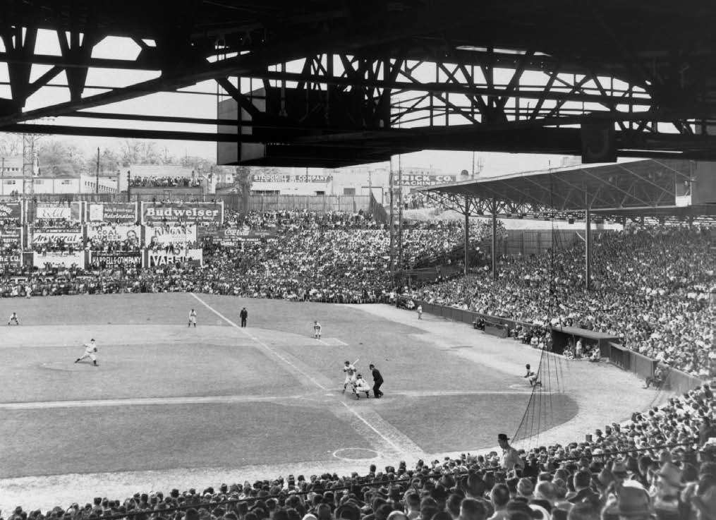 The April 1949 exhibition games featuring Jackie Robinson drew huge crowds.