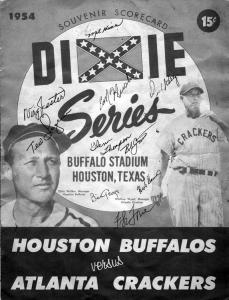 1954 Dixie Series program