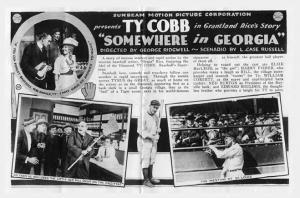 Ty Cobb: Career as a movie actor was brief, and his reviews were mixed.