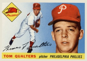 Tom Qualters: Signed with the Phillies on June 16, 1953 but made only a single appearance in September and rode the bench the entire 1954 season.