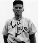 Spent most of his career in the Pacific Coast League, but did get one at bat in the major leagues (Boston Red Sox, 1948)