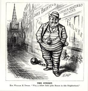 "William M. ""Boss"" Tweed: Exerted unprecedented influence through Tammany Hall and drew the ire of political cartoonist Thomas Nast."