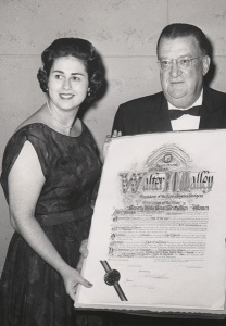 Rosalind Wyman: Los Angeles City Councilwoman (left) was a strong supporter throughout owner Walter O'Malley's maneuvering to bring the team to Los Angeles and build Dodger Stadium.