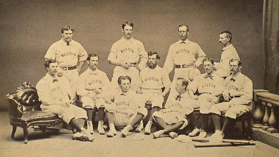 April 6 1871 Boston Red Stockings Take The Field For The First
