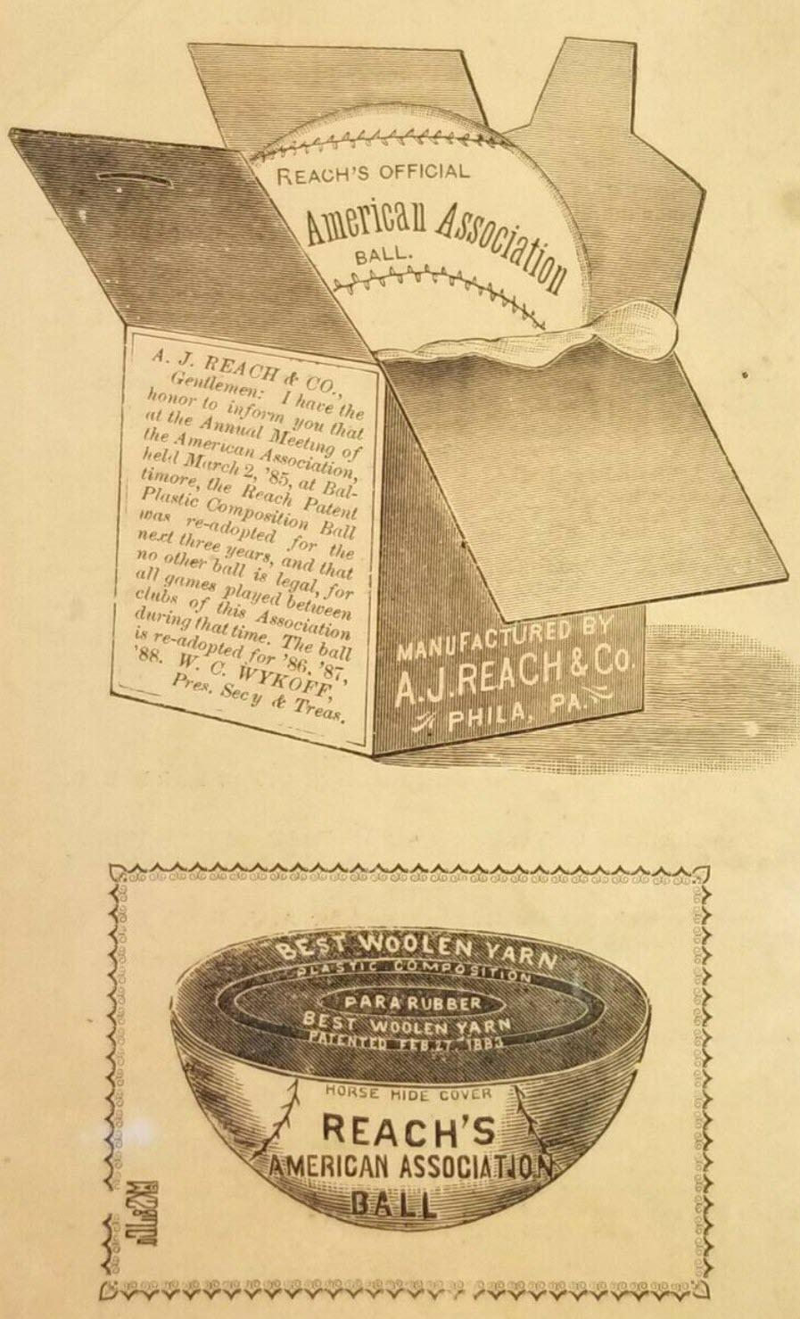 1887 Reach Guide baseball advertisement