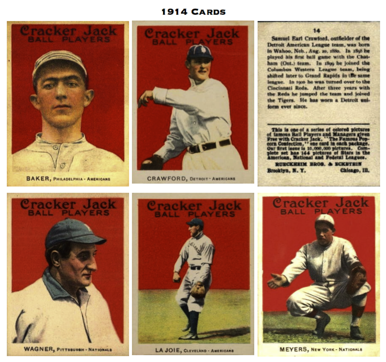 1914 15 Cracker Jack Baseball Cards Society For American