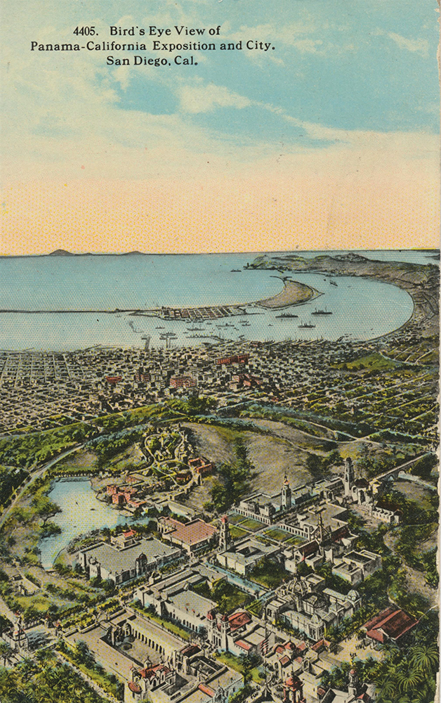 1914 San Diego Bay postcard
