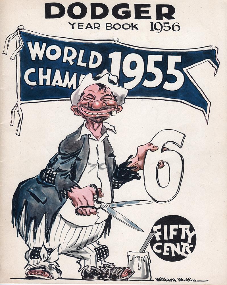 1956 Brooklyn Dodgers yearbook