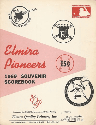 1969 Elmira Pioneers program