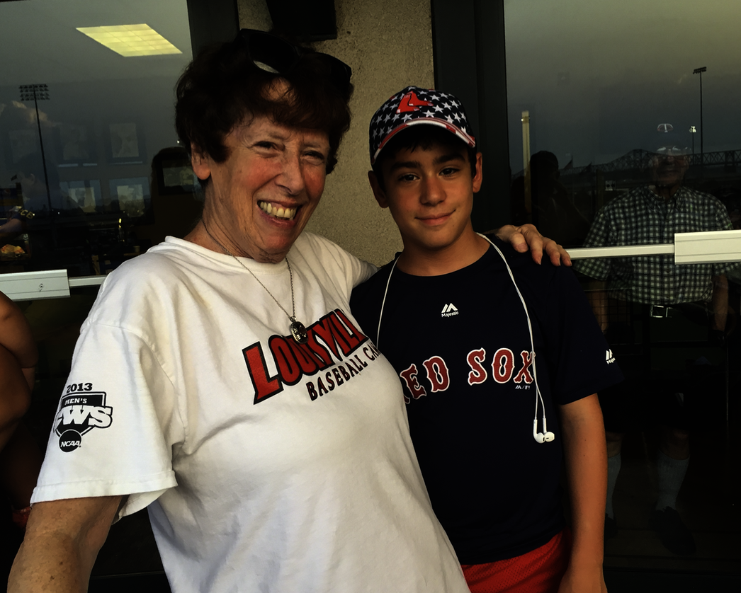 "University of Louisville baseball ""team mother"" Ricky Gittleman and her grandson Jake"