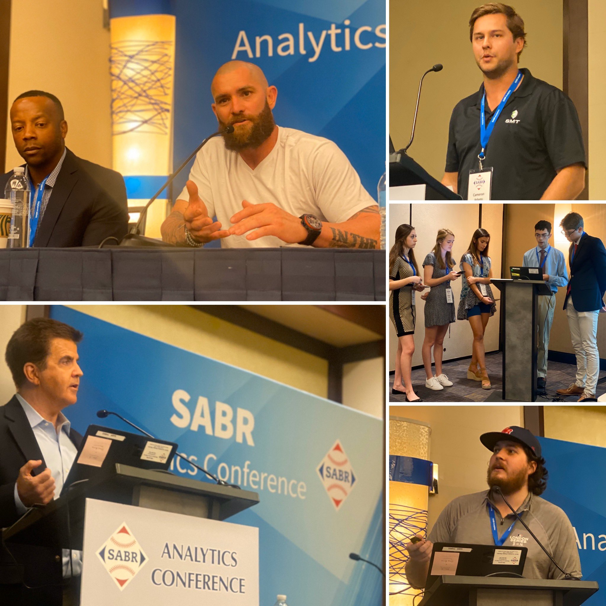 2020 SABR Analytics photo collage - Friday, March 13