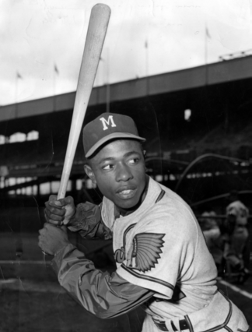 Image result for hank aaron 1957 NL pennant images
