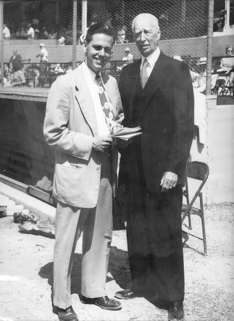 Dick Armstrong and Connie Mack, 1950