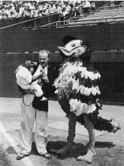 Dick Armstrong and Mr. Oriole, 1954