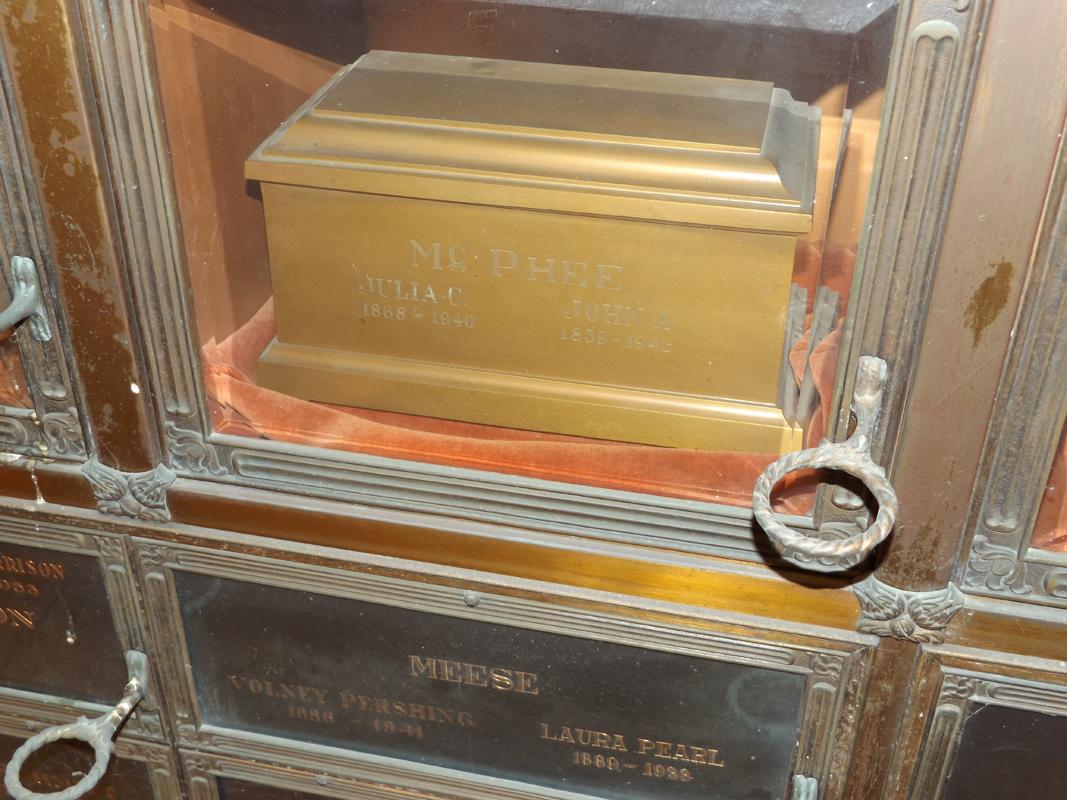 Bid McPhee grave marker