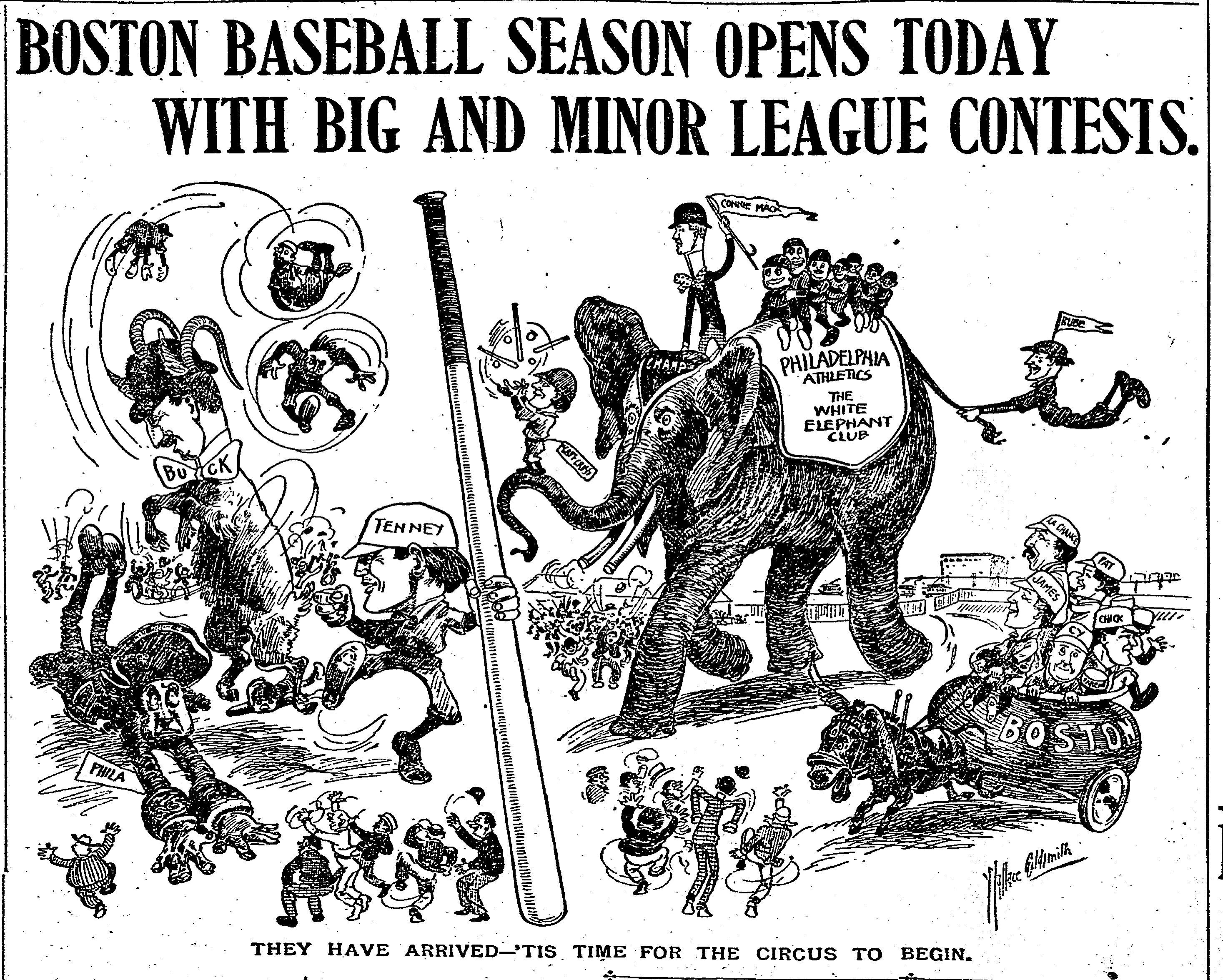 Boston Herald cartoon, April 20, 1903