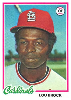 Lou Brock (THE TOPPS COMPANY)