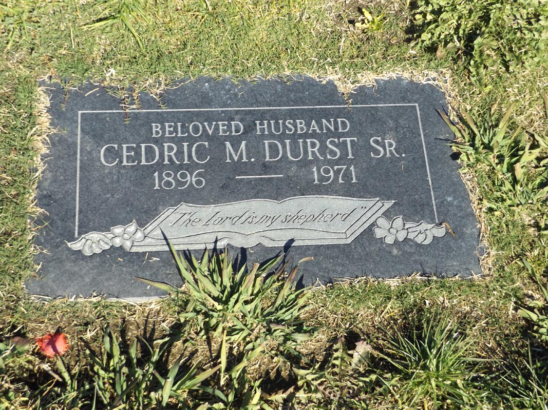 Cedric Durst grave marker