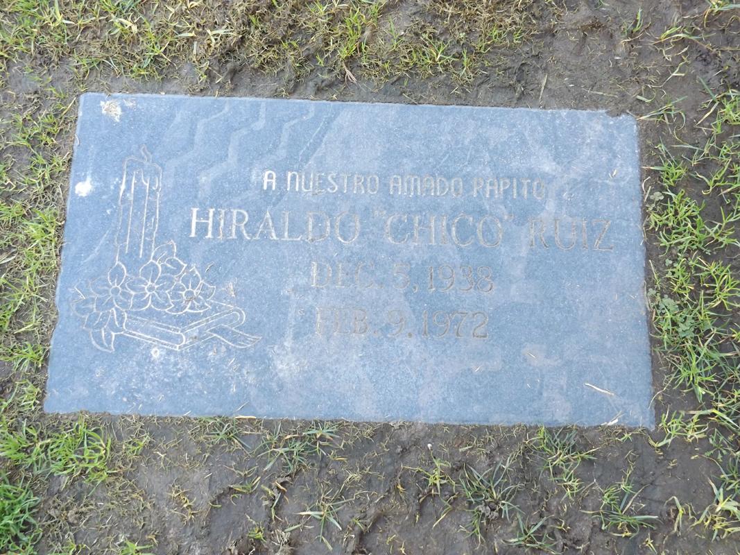 Chico Ruiz grave marker
