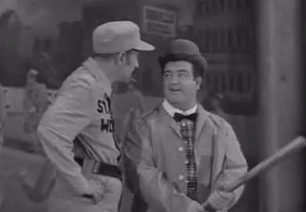 "Bud Abbott and Lou Costello in ""Who's on First"""