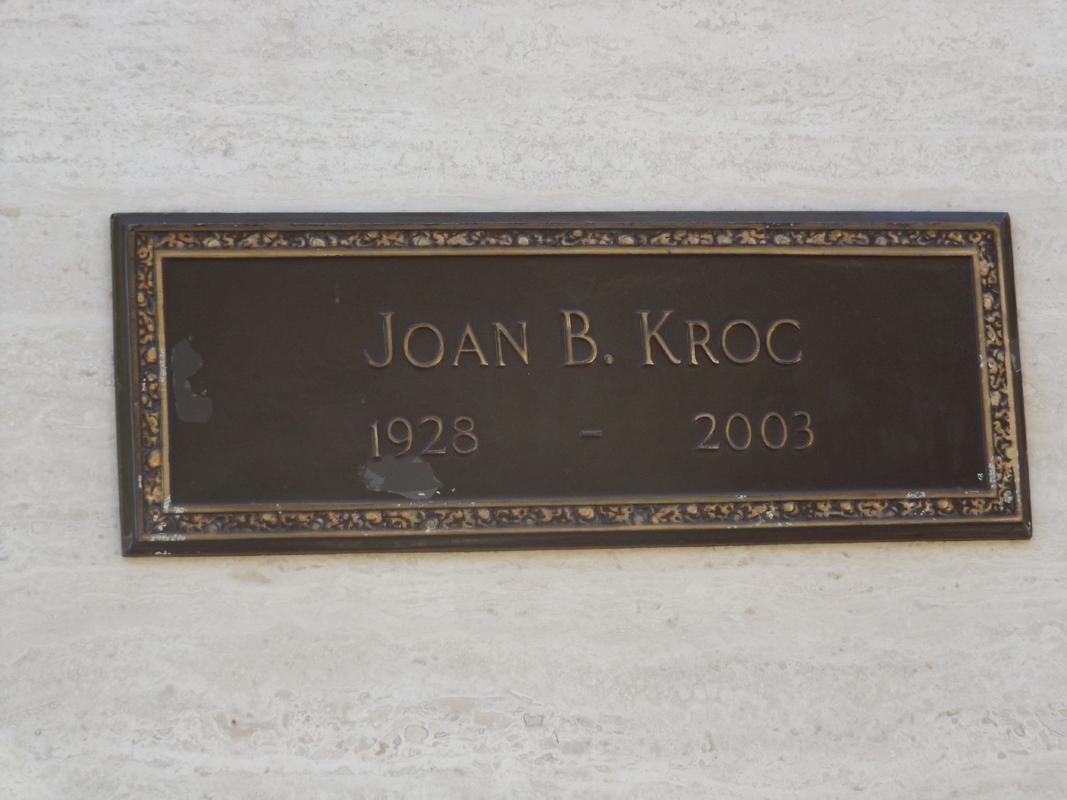 Joan Kroc grave marker