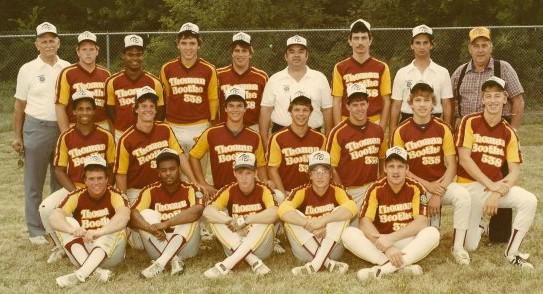 Lonnie Maclin, 2nd row, far left, with his American Legion baseball team