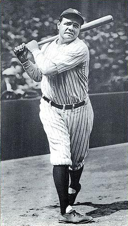 Image result for babe ruth hits homer