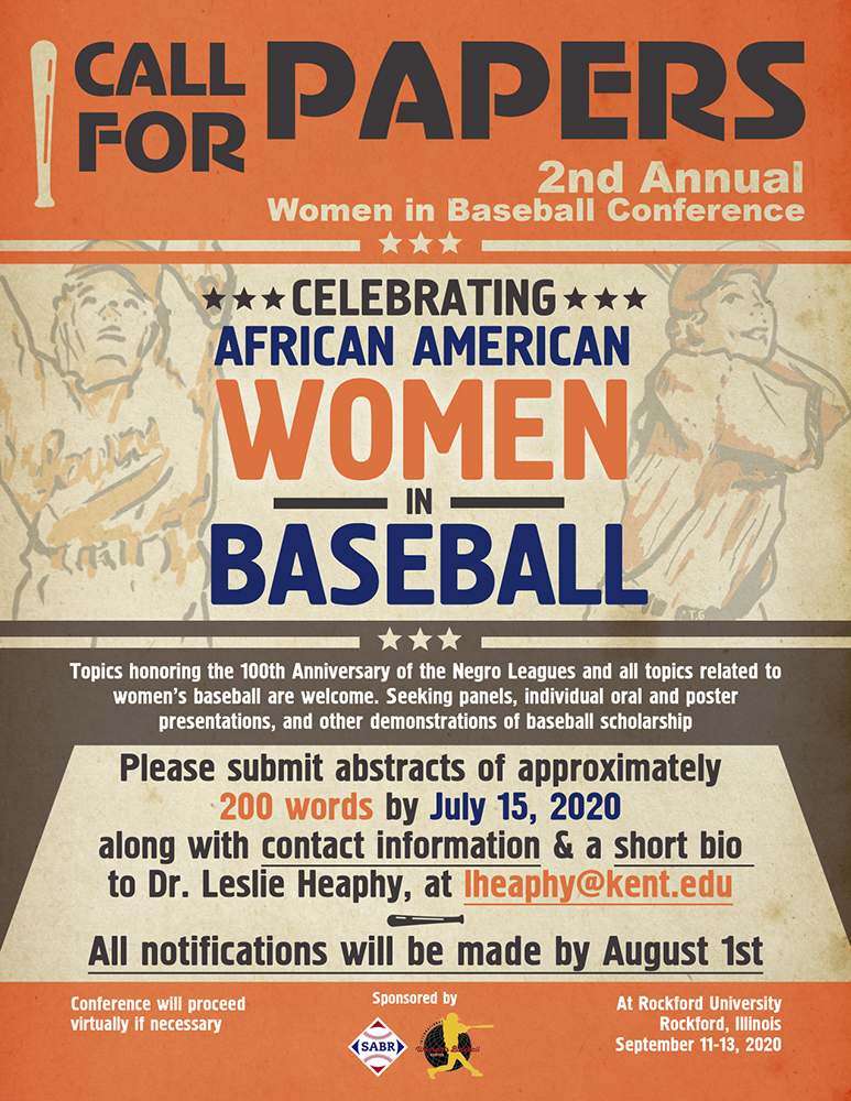 Call for papers: 2020 SABR/IWBC Women in Baseball Conference