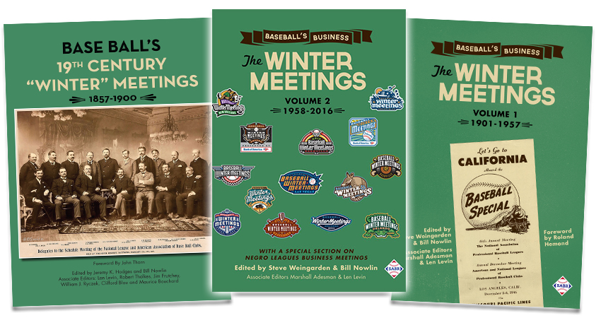 SABR Winter Meetings history books
