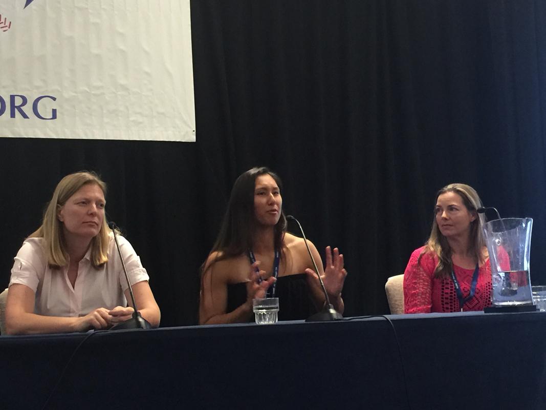 Justine Siegal, Kelsie Whitmore, and Jewel Greenberg