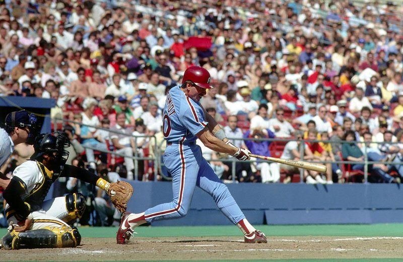 Mike Schmidt hits his 500th home run in 1987 (MLB.COM)