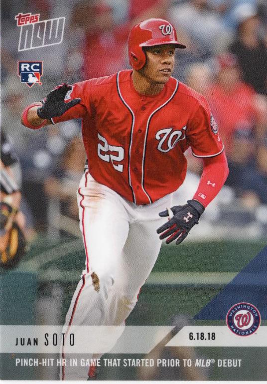 May 15, 2018: Nationals' Juan Soto homers before his major-league debut