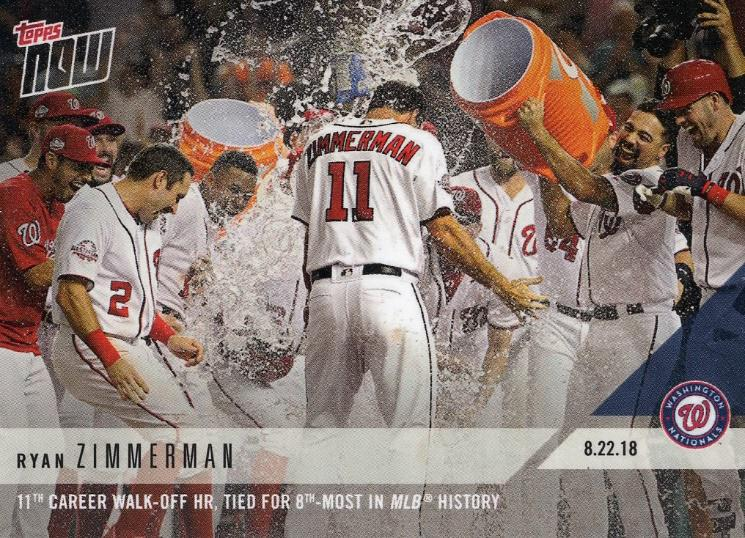 August 22, 2018: Ryan Zimmerman's 11th walk-off home run, a play in two acts