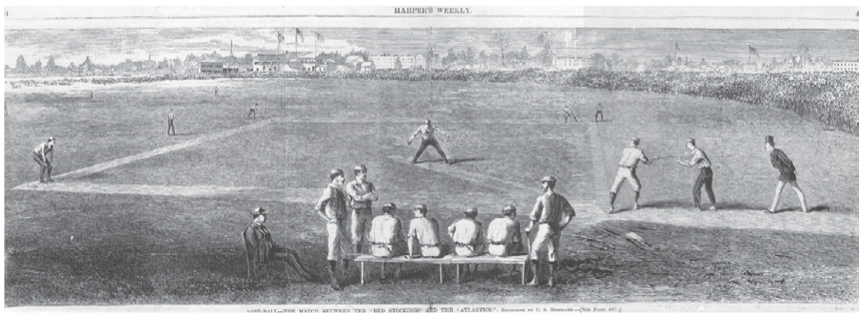 A July 2, 1870 Harpers Weekly illustration of the game.