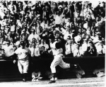 rounds the bases after his home run gave the Pirates the lead in Game Seven of the 1960 World Series.