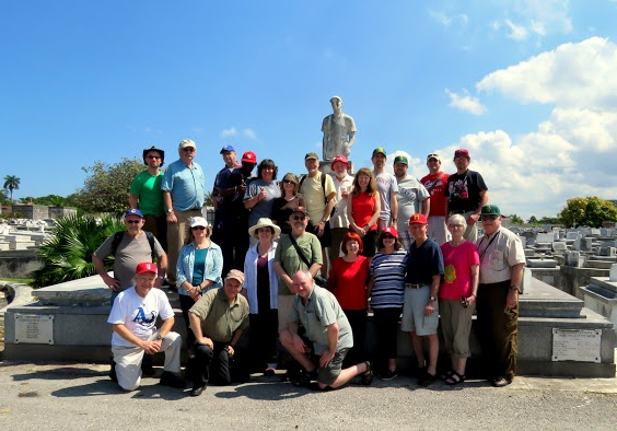 Group photo at Cementario de Cristobal Colon (Christopher Columbus) in Havana, Cuba.