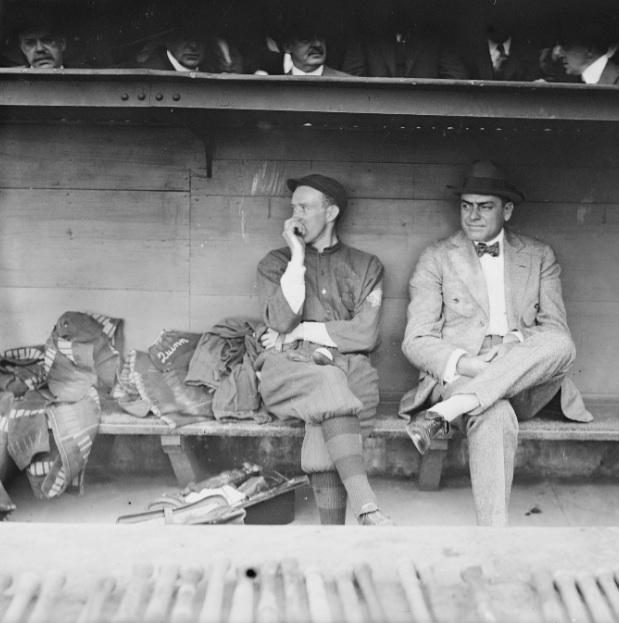 Hall of Fame second baseman Evers, left, and manager Stallings helped lead the 1914