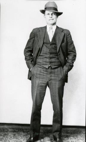 Nattily attired in the mid-1920s.