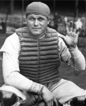 Hall of Fame slugger started out as a catcher, but moved to first base after the A's acquired Mickey Cochrane.