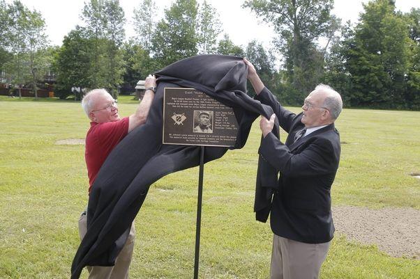 Home Run Johnson grave marker ceremony