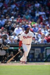 One of five African American players to appear on the Phillies roster in 2012.