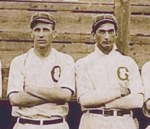 with the Greenville Spinners, 1908.