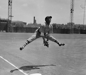 at Forbes Field in Pittsburgh, 1943.