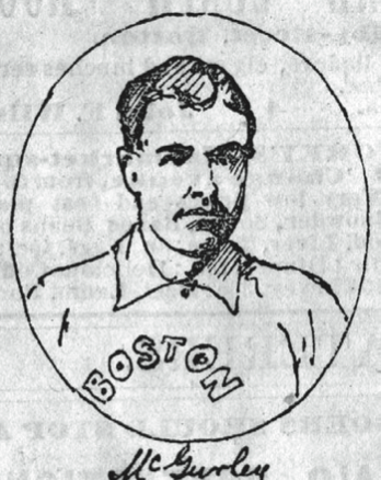 His eye injury hampered the Boston Red Caps in the inaugural National League game on April 22, 1876.