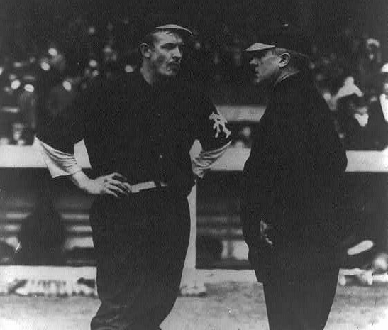 If Giants manager, right, had refused to play 1905 World Series, his star pitcher would have been denied a chance at postseason glory.