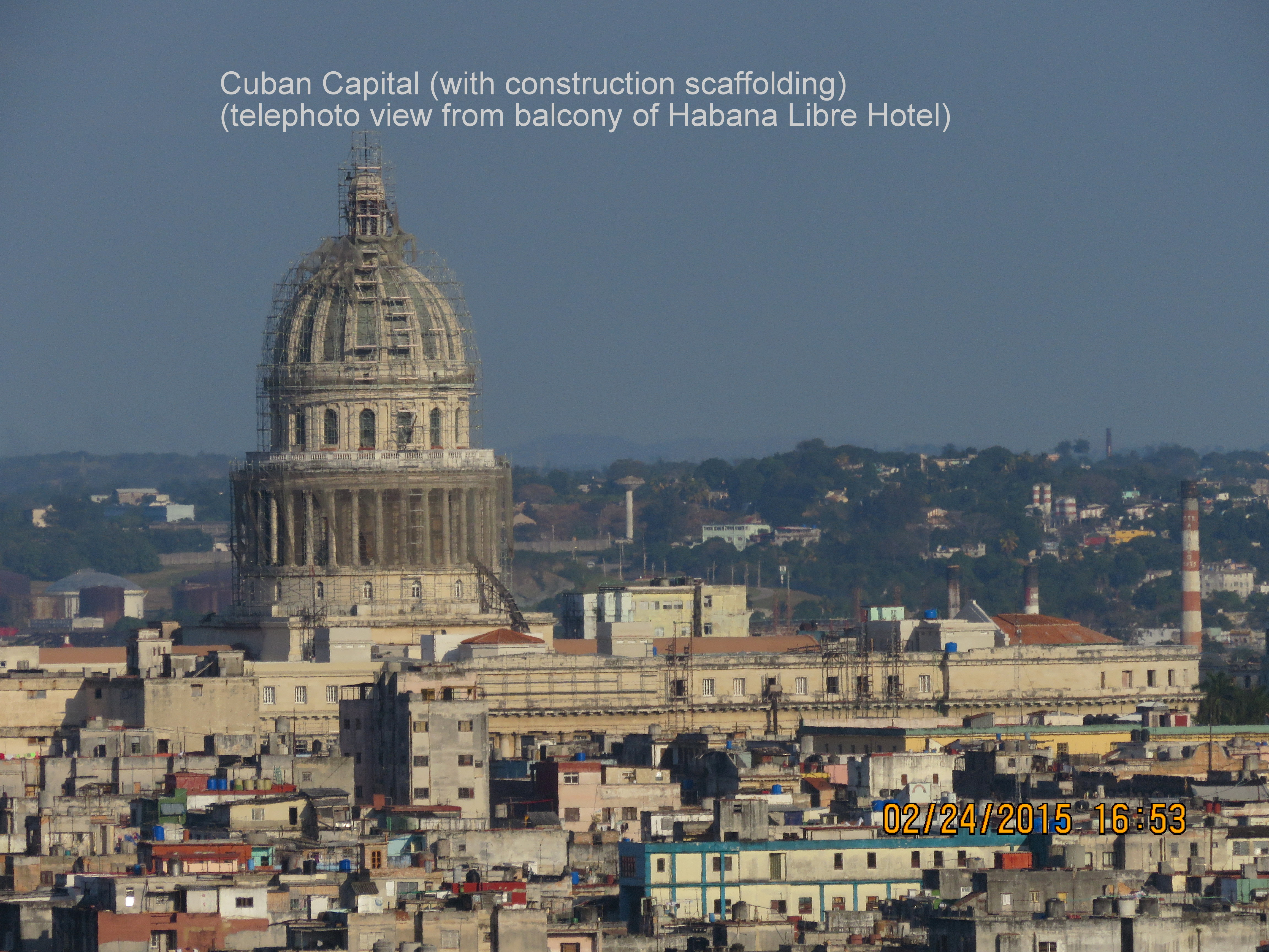 A view of Havana's national capitol building during the Cubaball tour in February 2015.